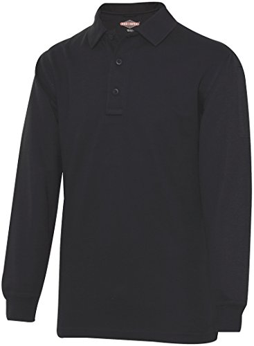 TRU-SPEC Men's 24-7 Series Long Sleeve Polo Shirt, Black, Medium