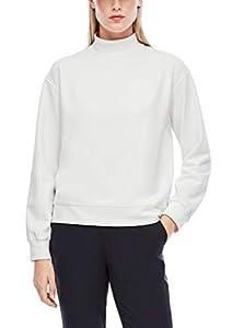 s.Oliver Damen Sweatshirt aus Interlockjersey Offwhite 42