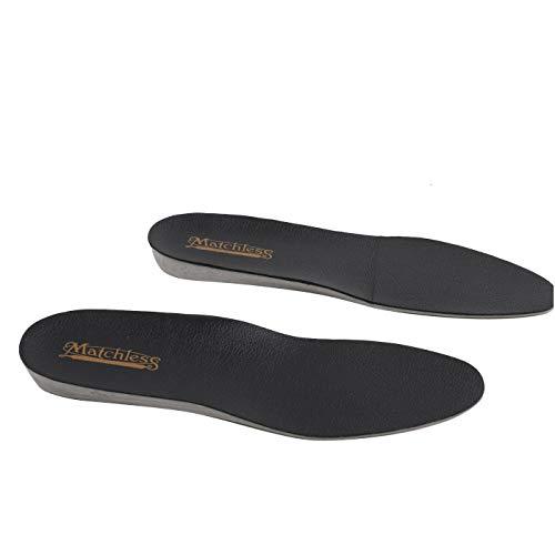 Matchless Damen Herren Unisex Leder Innen Sohle Schuh Einlage Fußbett Black Größe 37-38