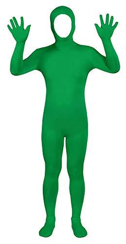VSVO Face Open Zentai Spandex Bodysuit (Large, Grass Green)
