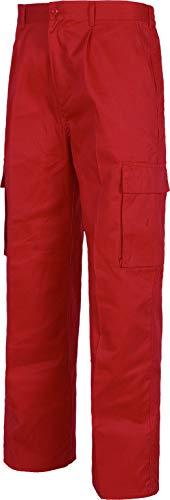Work Team Pantalón. Elástico en cintura, multibolsillos: dos bolsos laterales en perneras. HOMBRE Rojo 38