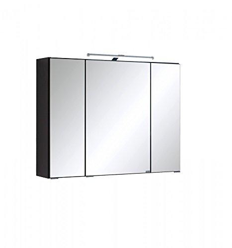 Held Möbel Portofino Spiegelschrank 80, Holzwerkstoff, Graphitgrau, 20 x 80 x 66 cm