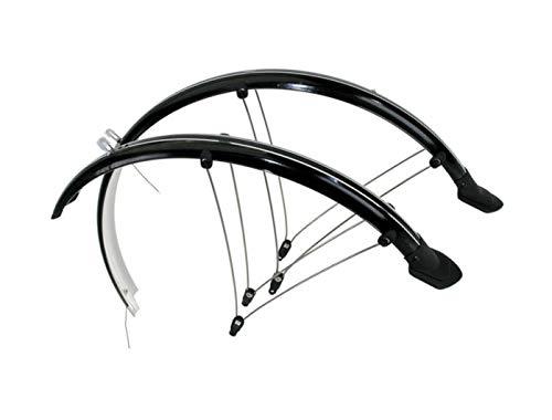 P4B | 20 Zoll Fahrrad Schutzbleche | Set für Vorder und Hinterrad | Mit elektrischen Kontaktstreifen | Flexibles Kunststoff | Schutzblech für Kinderfahrrad