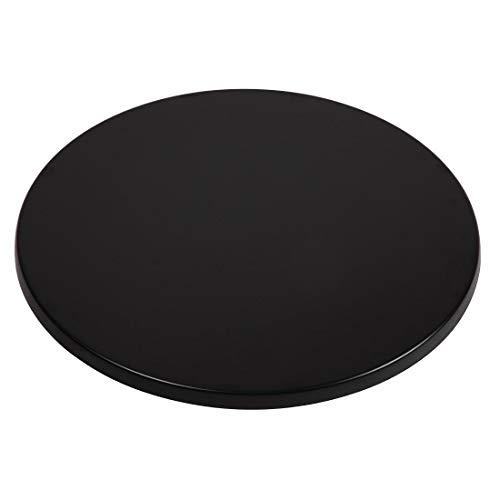Werzalit Plus Cc513 rond Dessus de table, 800 mm, Noir