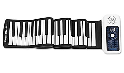 FEFCK Piano Enrollado A Mano Portátil De 88 Teclas Pianos Digitales Electrónicos Inteligentes para Niños/Adultos/Principiantes Soporta Midi Y...