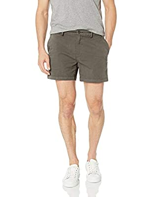 "Goodthreads Men's 5"" Inseam Flat-Front Stretch Chino Shorts, -eiffel tower, 34"