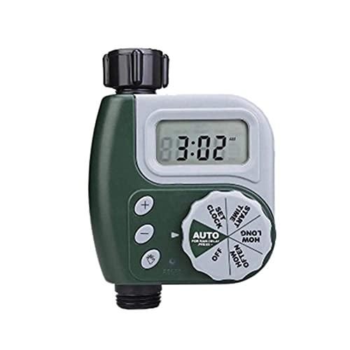 Temporizador de riego automático DealMux, pantalla LCD electrónica, riego por goteo, aspersor, temporizador de agua, jardín, césped, riego, control de temporizador