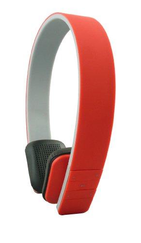 Emartbuy® SleekWave Auriculares inalámbricos con Bluetooth con Sonido Estéreo de Alta Definiciónin Rojo con Micrófono Incorporado y Mando a Distancia Doogee Valencia DG800 / Doogee Voyager DG300