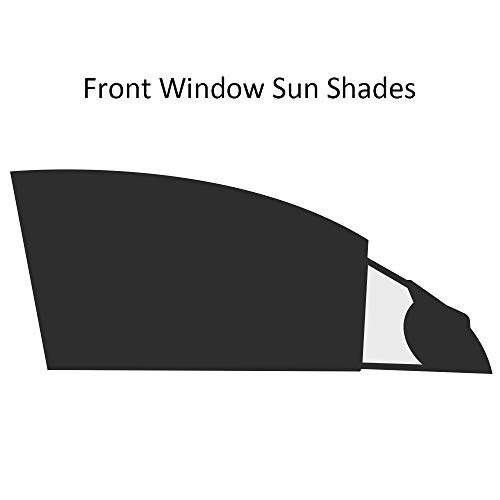 Reachs Car Window Shade for Front Driver Window Auto Stretchy Sunshade - Protect Famlies Women Child Baby Pets from Sun, Glare and UV Rays - 2 Pack (Front Side Window Shade)