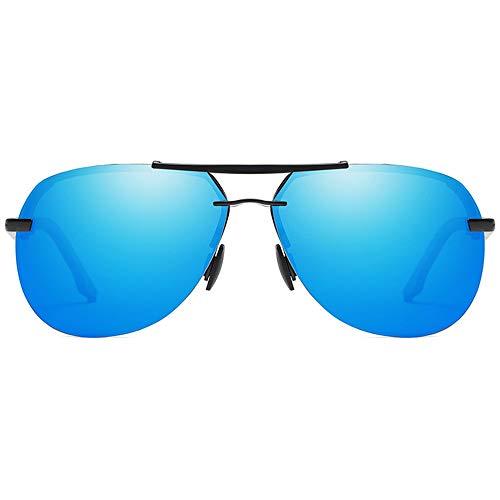 Kaper Go Gafas de sol Trend New Street Shooting Material de metal silvestre polarizadas Gafas de sol para hombre y mujer con las mismas gafas de sol de conducción (color: azul)