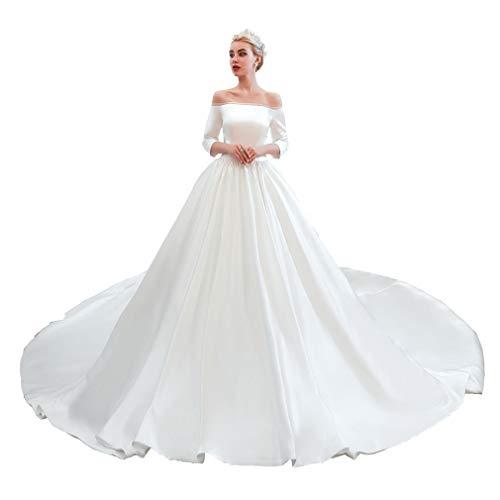 Top 10 Best Cream Corset Off the Shoulder Sleeve Wedding Dress Comparison