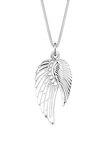 Elli Halskette Damen Doppelt Flügel Schutzengel in 925 Stering Silber
