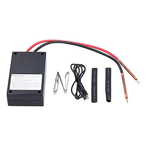 Mini soldador por puntos, 18650 batería recargable soldadora de mano portátil Mini soldador ajustable de 6 engranajes con tubo termorretráctil hoja de níquel