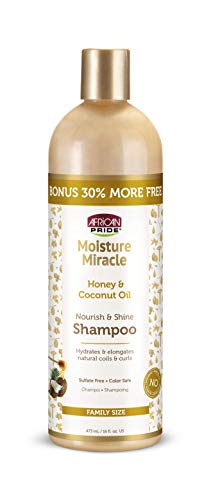 African Pride Moisture Miracle Honey & Coconut Oil Shampoo - Family size,16 oz.