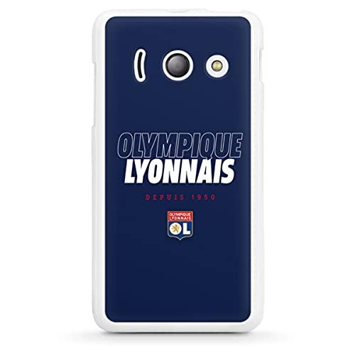 DeinDesign Silikon Hülle kompatibel mit Huawei Ascend Y300 Hülle weiß Handyhülle Fußball Olympique Lyonnais OL