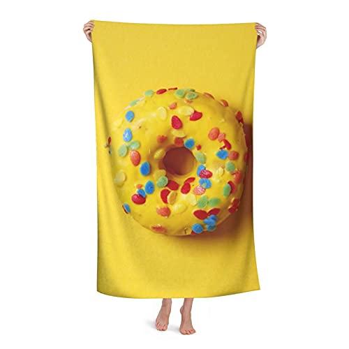 CUTOZ Ciambelle Asciugamano Da Bagno Asciugamano Da Spiaggia Ad Asciugatura Rapida Super Assorbente Donne E Uomini Asciugamano In Microfibra Per Sport Acquatici Da Viaggio (36 x 24 x 3 cm)