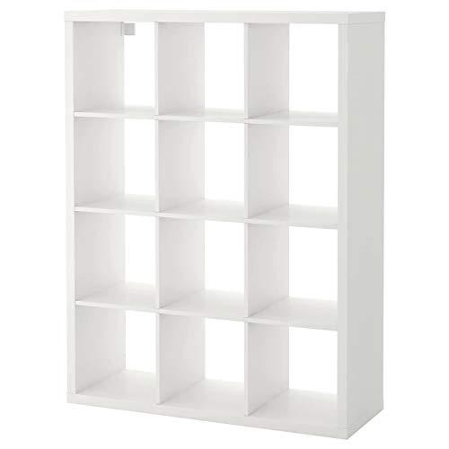 IK IKEA Kallax - Estantería de Color Blanco, 112 x 147 cm