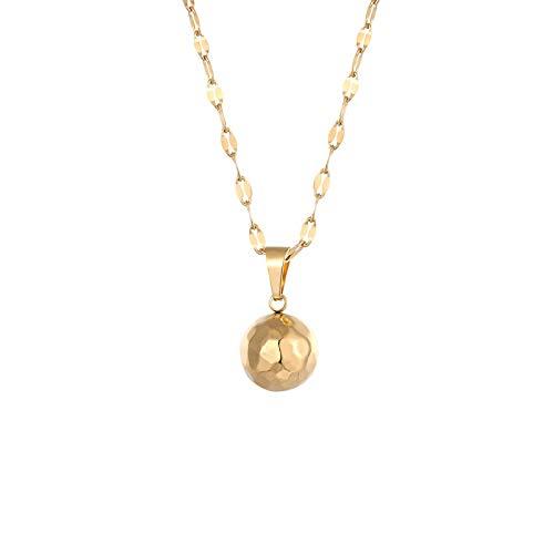 MNMXW Collana con ciondolo a sfera con piano tangente Collana con gioielli in acciaio inossidabile di alta qualità color oro per commemorare il regalo-oro