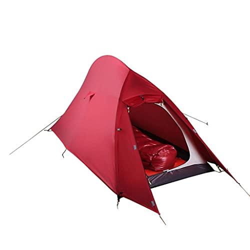 SKSNB ?Tiendas de campaña para 1-2 Personas Unisex Adecuado para Tres Estaciones Cómoda Bolsa de Viaje portátil Suave roja