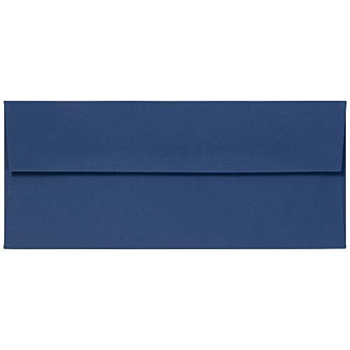 JAM PAPER #10 Business Premium Envelopes - 4 1/8 x 9 1/2 - Presidential Blue - 25/Pack
