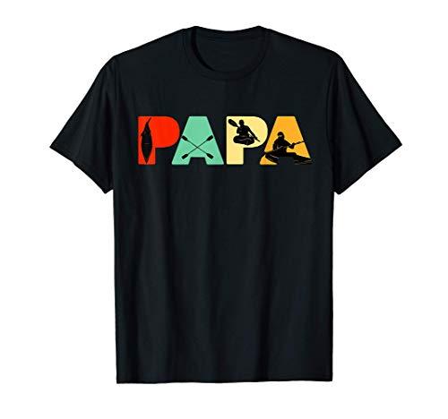 Hombre Camiseta de papá kayakista, regalo del día del padre de papá Camiseta
