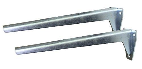 Sunload Regalbodenträger Schwerlastträger L-Profil Konsole Stahl verzinkt (2 x 330 mm)