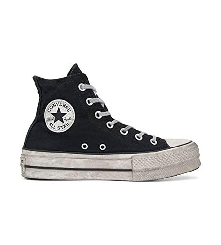 Converse Chuck Taylor All Star Ox Washed Coral/Negro/Blanco Textil, Black Smoke, 41.5 EU