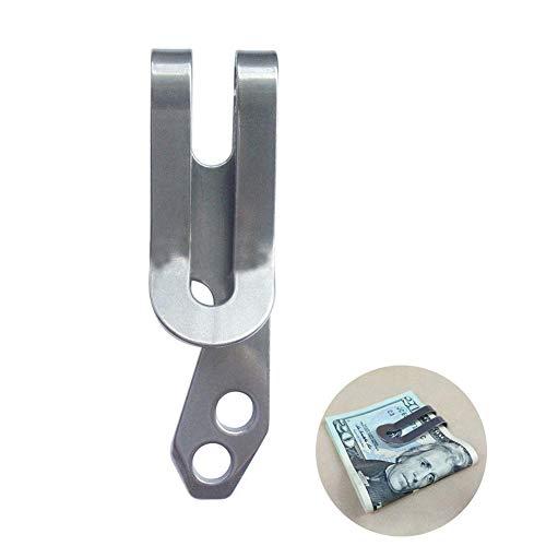 tyrrdtrd Clip de dinero multifunción de acero inoxidable, herramienta para abrir botellas