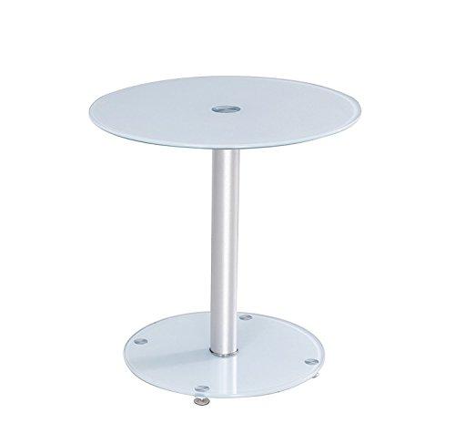 Premier AV lt07Auxiliar Redonda y Mesa de café, Color Blanco
