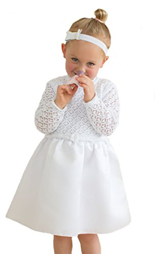 HOBEA-Germany Baby Taufkleid Blumenmädchen Festkleid, Modell: Sarah, Größe Kleider:86