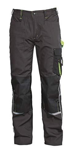 Stenso Prisma® - Herren Arbeitshose Bundhose/Cargohose mit Multifunktions/Kniepolster-Taschen - Grau/Grün EU60