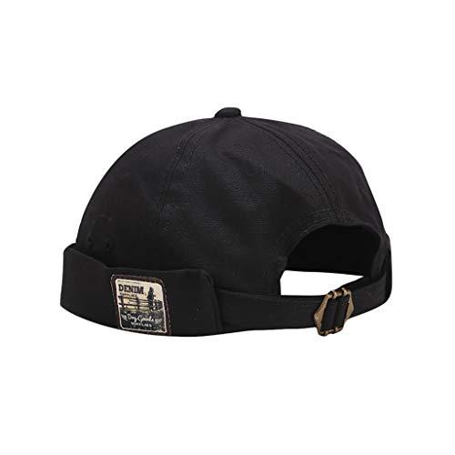 BIBOKAOKE Herren Damen Melonen Mütze Beanie Arbeiter Matrosenmütze Arbeiterhut Retro Mode Krempenlos Hut mit verstellbarem Street Hip-Hop-Yuppie-Hut Vermieter Hut
