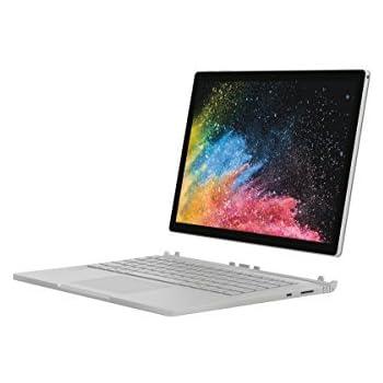 """[Ancien Modèle] Microsoft Surface Book 2, 13,5"""" Argent (Core i5, 8Go de RAM, 256Go, Windows 10 Pro) - Calvier AZERTY français"""