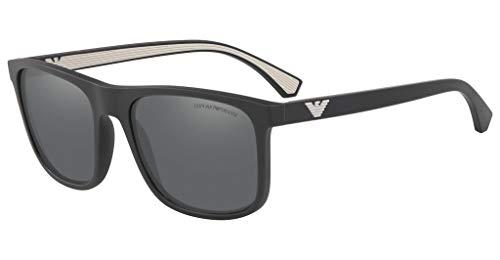 Emporio Armani 0EA4129 Gafas, Gris, M para Hombre