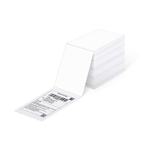 4x6 Versandaufkleber Direkte Thermische Fanfold-Versandetiketten 500 Etiketten für Postanschriften DHL USPS UPS FedEx Amazon Ebay-Versandetikette