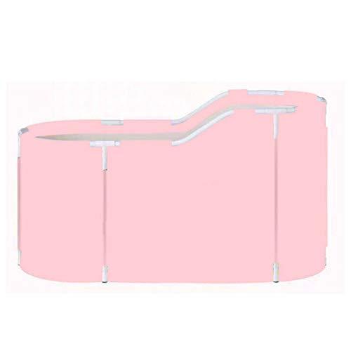 Bañera plegable de 120 x 70 x 60 cm, bañera portátil de PVC para exteriores, para adultos, bañera de hidromasaje multifuncional, plegable para ahorrar espacio (tamaño: 120 x 70 x 60 cm; color: 1)