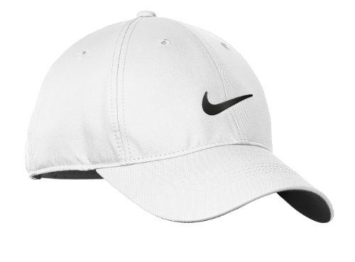 Nike Womens Golf Dri-FIT Swoosh Front Cap, White/Black, OS