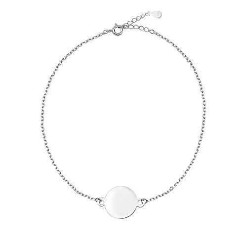 SOFIA MILANI Damen Armband Plättchen Kreis Ring Silber 30007