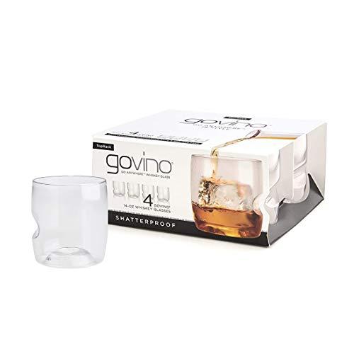 Govino Dishwasher Safe Flexible Shatterproof Recyclable Whiskey...