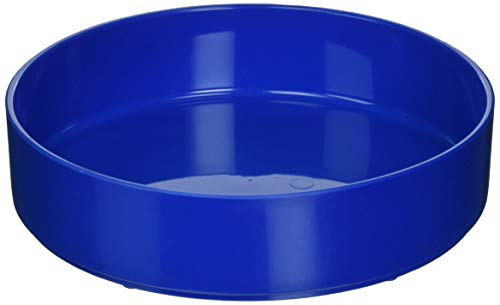 Sammons Preston High-Sided Dish, Blue, Durable Melamine Plastic Plate has 7.75' Diameter & 1.75' High Sides, Can Serve as Bowl or Scooping Aid, Independent Eating Tool for The Elderly, Disabled