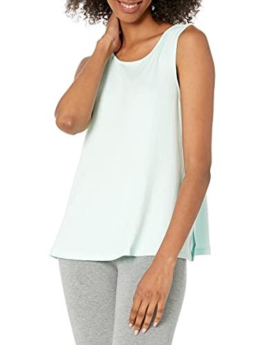 Amazon Essentials Lightweight Lounge Terry Swing Tank Night-Shirts, Turquesa pálido, US S (EU S - M)