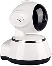 Scienish 720P Wireless IP Camera Pan/Tilt Indoor Baby Monitor 2.4GHZ WiFi Network P2P APP Support Night Vision 2 Way Audio Home Security Cameras (White)