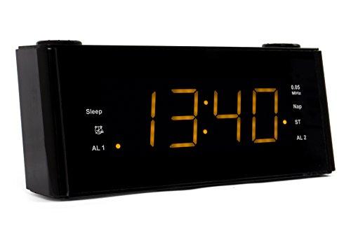 BLAUPUNKT CLR 180 BK Uhrenradio mit Wecker, AUX-IN, Stereo PLL FM-Lautsprecher, 2 Weckzeiten, Snooze-, NAP und Sleep-Timer schwarz