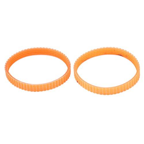 Sourcingmap® 220 mm Innengurt Achse Antrieb einseitig Motor Mechine Zahnriemen, 2 Stück, Orange de