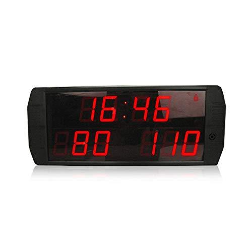 XTLXA LED Uhr Digital Uhr Große Wanduhr 9-stellige LED-Anzeigetafel Innengebrauch Basketball/Fußballspiel Anzeiger (Color : Black, Size : Digital Height 2.3inch)
