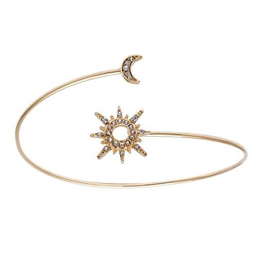 Holibanna Brazalete de Brazo de Mujer Brazalete de Luna Y Estrella Brazalete de Brazo Superior Joyería Geométrica Decorativa para Damas