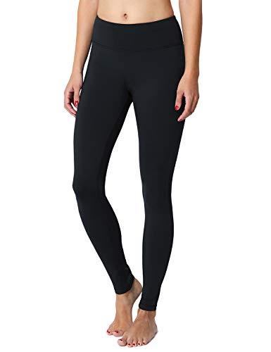 Baleaf Women's Fleece Lined Winter Leggings Thermal Yoga Pants Sweatpants Black Size XXL
