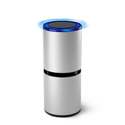 SZHWLKJ Purificador de aire, Portátil Generador de iones negativos del ionizador for el coche pequeño de estar Cocina Home Office Desktop for eliminar el humo del polvo PM2.5 Alergias gérmenes (Negro)