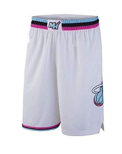 ZJFXSNEH ZJXSNEH Herrenbekleidung NBA-Trikots Heat Nr.3 Wade-Trikots Basketball-Trikots-M WeißE Shorts 6