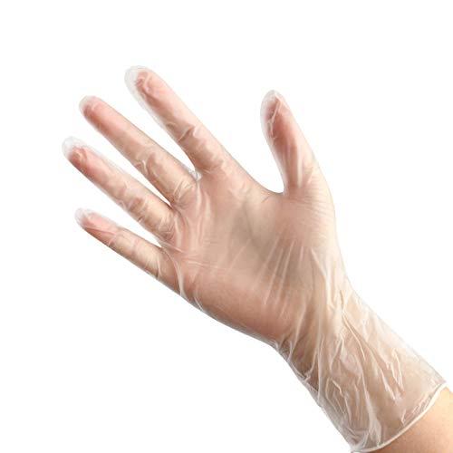 Disposable PVC Gloves Food Processing Examination Gloves Catering Gloves Catering Beauty Gloves 100pcs / Box Transparent Elastic M 603-[100 pcs] Medium puderfrei nitrilhandschuhe